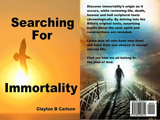 Searching For Immortality Front and Back Cover